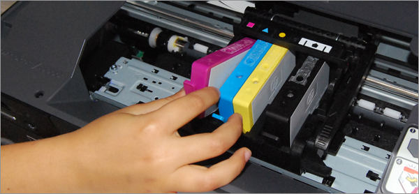 Comment changer la cartouche d'une imprimante au bureau ?